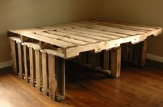 Picture Of Inspiring Pallet Bed Frame With High Storage Underneath