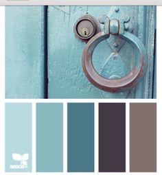 Kitchen colors schemes vintage design seeds 70 Ideas for 2019 Colour Pallette, Color Palate, Color Combos, Paint Combinations, Blue Palette, Wall Colors, House Colors, Paint Colors, Colours