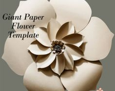 Paper Flower Template DIY Paper Flower Paper Flower by APaperEvent