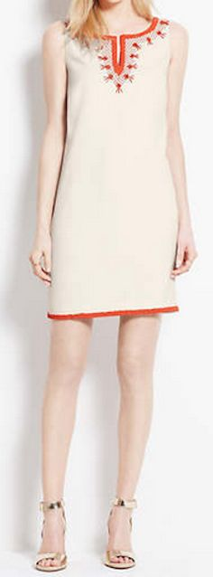 Embroidered bead shift dress http://rstyle.me/~2aNIz