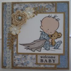 New baby boy card using LOTV stamp