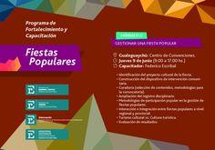 """El jueves 9 de junio, a las 9 hs, en el Centro de Convenciones de Gualeguaychú se desarrollará la segunda jornada del """"Programa de Fortalecimiento y Capacitación de Fiestas Populares de Entre Ríos""""."""