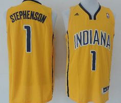 635526945 Adidas NBA Indiana Pacers 1 Lance Stephenson New Revolution 30 Swingman  Alternate Yellow Jersey. cheerera · Men NBA Jerseys
