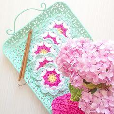 Örgü Çiçek Motifleri - Flower Crochet Pattern