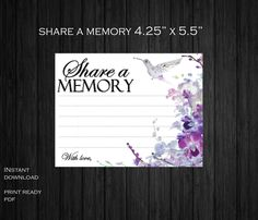 Inexpensive Wedding Venues In Ma Product Memorial Cards For Funeral, Wedding Memorial, Printable Wedding Programs, Bookmark Template, Inexpensive Wedding Venues, Purple Orchids, Program Template, Note Cards, Memories
