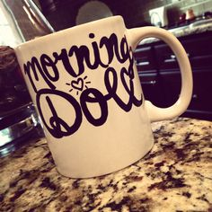 My DIY coffee mug attempt :) --- sorry about all the diy mug posts friends haha, i'm just searching for cute ideas!
