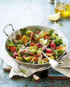 Valentine Warner's Middle Eastern salad recipe is quick and easy to make – great for a light midweek dinner.