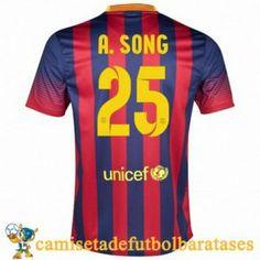 Camisetas Barcelona A.Song futbol casa 2013-2014
