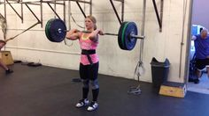 200lb Power Clean and Jerk #crossfit #weightlifting.....if I had the time and money would love to get into crossfit....