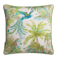 Discover the Matthew Williamson Bird of Paradise Cushion - Jade / Kiwi at Amara