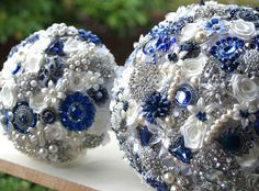 Royal blue Wedding Brooch Bouquet. #RoyalBlueWedding #RoyalBlue #Weddings #Ideas #WeddingIdeas #RoyalBlueParty #RoyalBlueAccessory #CuteRoyalBlue #Amazing #RoyalBluePartyIdea #UniqueIdea #RoyalBlueStuff #RoyalBlueWedding #WeddingIdea #RoyalBlueColor #RoyalBlueAccessory #RoyalBlueparties #RoyalBlueDesign