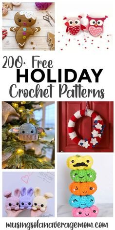more than 200 free holiday themed crochet patterns for Halloween, Thanksgiving, Christmas, Valentine's Day, St. Patrick's Day, Easter and Independence day Holiday Activities, Holiday Crafts, Holiday Crochet Patterns, Groundhog Day, Child Day, Gifts For Father, Independence Day, Birthday Celebration, Special Day