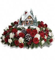 Thomas Kinkade's A Kiss For Santa by Teleflora in ElklandPA, The Rainbow Rose