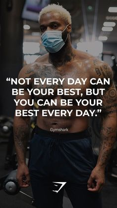 """""""Not every day can be your best, but you can be your best every day."""" - Gymshark. Save this to your motivation board for a reminder! #Gymshark #Quotes #Motivational #Inspiration #Motivate #Phrases #Inspire #Fitness #FitnessQuotes #MotivationalQuotes #Positivity #Routine #HealthyMindset #Productive #Aspiration #Wellness #LifeGoals"""