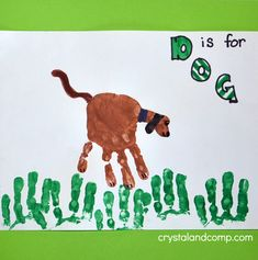 Hand Print Art: D is for Dog