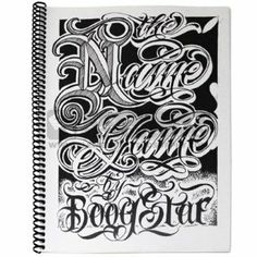 The Name Game by Boog Star Sketchbook Letter Flash Element Tattoo Supply by Boog Star. $27.70. Many other sketchbooks available in our listings. Taking inspiration from places he's visited or has yet to visit, Boog Star creates different fonts with the style and originality of the actual place in mind. Focusing on different fonts and ways in order to satisfy your customers thirst for something new and different when it comes to names and lettering. The latest add... Tattoo Script, Script Lettering, Tattoo Fonts, Typography, Lettering Ideas, Boog Tattoo, Tattoo Flash, Tibetan Script, Chicano Tattoos