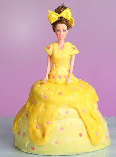 Banana Barbie Doll Cake