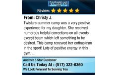 Twistars summer camp was a very positive experience for my daughter. She received...