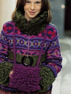 This Fairisle Coat and muff  is found in the first issue of Made By Me. You can even win the pattern and yarn to make the muff on www.mbymmagazine.com/share!