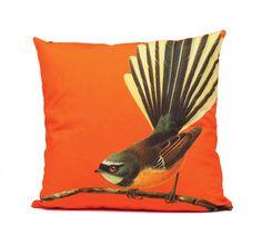 Fantail Cushion - Orange