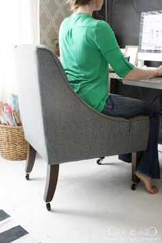 shop our house, room-by-room | tufted desk chair and desks