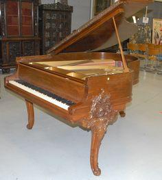 Mason & Hamlin grand piano, walnut with carved - Realized Price: $5,310.00