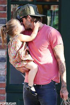 : David Beckham and Harper Beckham had an adorable moment during an LA shopping trip on Thursday.