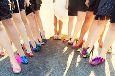 Southern weddings - feather shoes