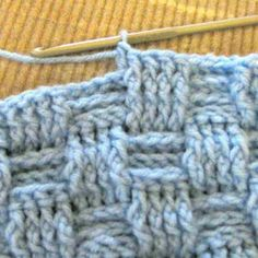 Basketweave Pattern with Front Post Stitch and Back Post Stitch