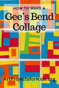 Gee's Bend Quilt Collage · Art Projects for Kids You are in the right place . Gee's Bend Quilt Col Art Auction Projects, Group Art Projects, Easy Art Projects, School Art Projects, Collaborative Art Projects For Kids, Shape Collage, Collage Art, Kids Collage, Collage Design