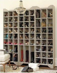 DIY:  Ballard Designs Inspired Shoe Storage Plans - this is a great project, with detailed plans!