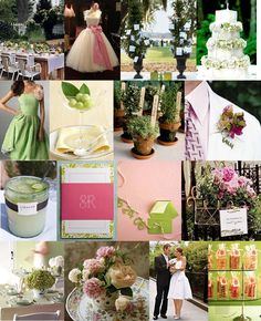 Pink and Green - I like everything about this I think