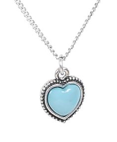 blue heart necklace prom homecoming