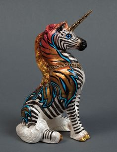 "WINDSTONE EDITIONS ""GRAB BAG EDITION"" YOUNG UNICORN FIGURINE - ""WILDCARD"" #ooak #art #unicorn"