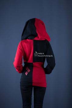 Harley Quinn inspired hoodie by PixelStrix on Etsy
