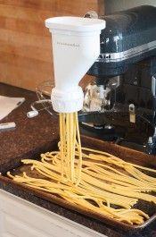 KitchenAid Pasta Extruder in Action
