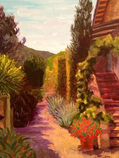 A beautiful tuscan scene by Anna Ball Hodge