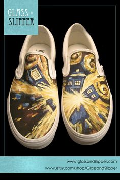 59b2a3efd524 Items similar to MADE TO ORDER  Customized Slip-On Canvas Vans on Etsy