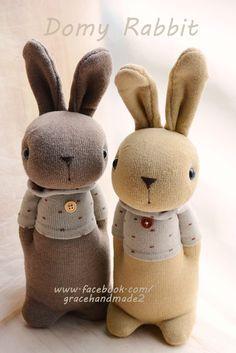 Grace--#359+#360 sock Domy Rabbits