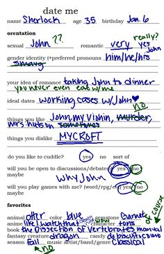 I can't stop laughing.>>> I LOVE THIS!!!! Sherlock is the blue and John is the green
