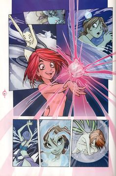 W.I.T.C.H.--this scene was in the very first book, The Power of Five