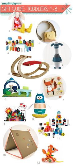 Check out the annual Gift Guides at Small for Big! Babies, Toddlers, Preschool, Tween, Stocking Stuffers, and Moms/Dads too. SmallforBig.com #kids #toys #gifts #holidays #giftguides