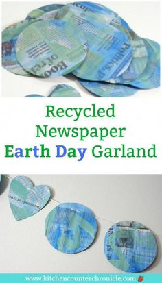 Decorate your house with an recycled newspaper Earth Day garland. The kids will have fun making this fun Earth Day craft. crafts kids Make a Recycled Newspaper Earth Day Garland Earth Day Projects, Projects For Kids, Crafts For Kids, Arts And Crafts, Recycling Activities For Kids, Art Projects, Recycling Projects, Fun Crafts, Earth Craft