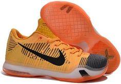 Nike Zoom Kobe 10 X Yellow Orange Black Grey
