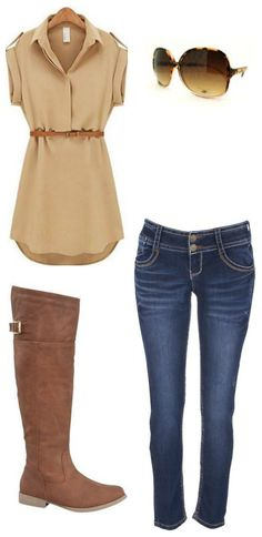 Get this whole outfit (boots, jeans, top and sunglasses) for LESS than $70 shipped!!