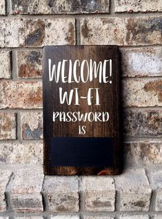 Wifi password Sign | Wi-Fi Sign Sign | welcome sign | Be our Guest sign | Welcome wifi sign | Guest Room Sign | Housewarming gifts | Guest by TheWoodGrainHome on Etsy https://www.etsy.com/ca/listing/488504999/wifi-password-sign-wi-fi-sign-sign