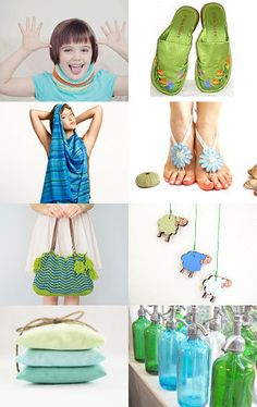 Lovely colors for summer day  by mira (pinki) krispil on Etsy--Pinned with TreasuryPin.com