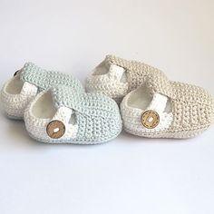 Hand Crochet T Bar Baby Shoes