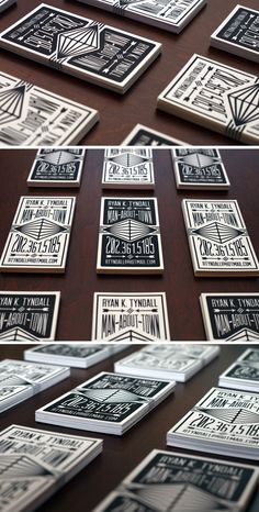 Black & White Letterpress calling cards printed on 118lb 100% cotton paper.