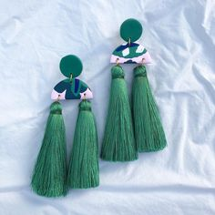 Tassels and polymer clay by Salvation Jewellery